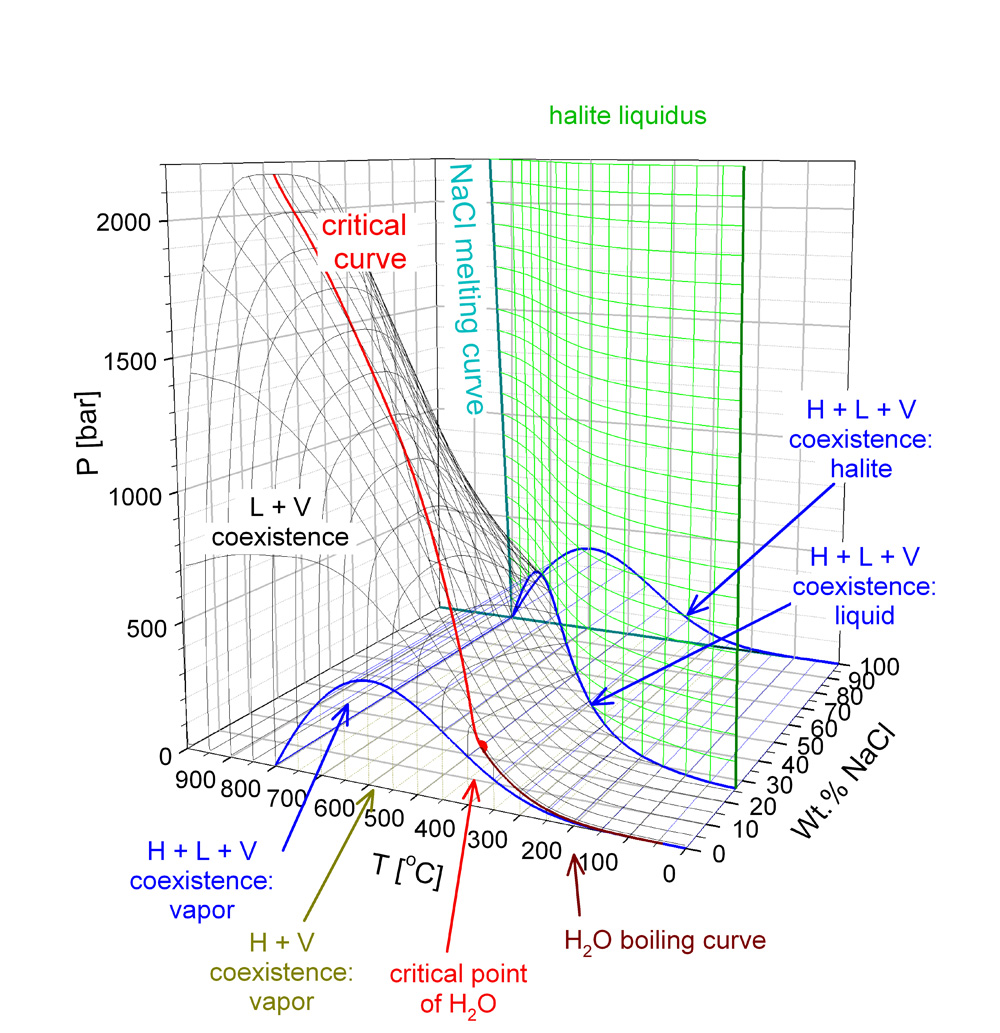H2o nacl fluid properties fluids and mineral resources eth zurich phase diagram of h2o nacl in temperature pressure composition space pooptronica Choice Image